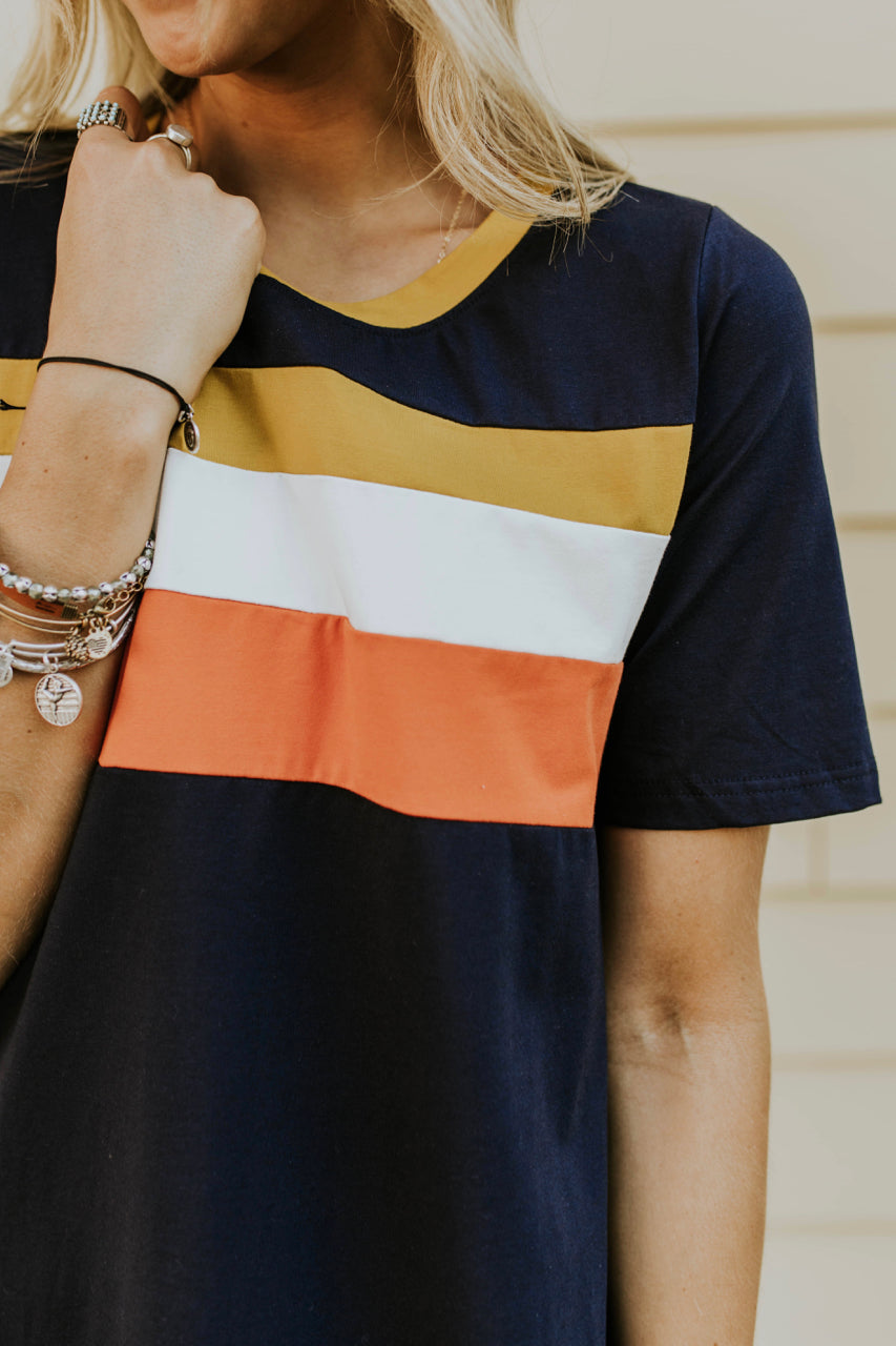 Colorblock Dress Outfit | ROOLEE