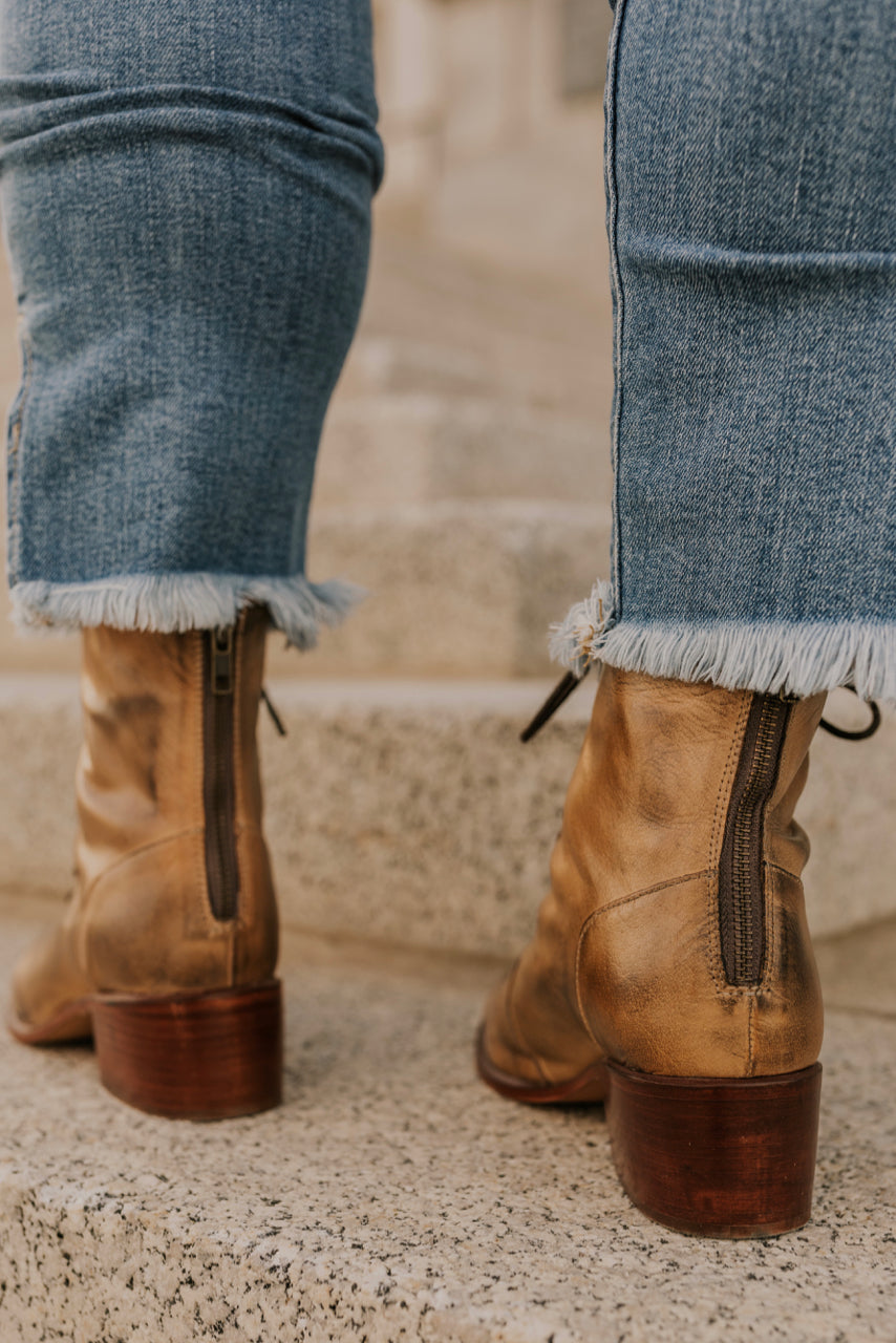 Heeled Leather Boots | ROOLEE