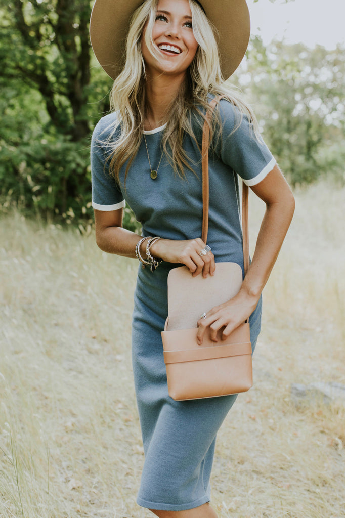 Mini Crossbody Bag in Sand | ROOLEE