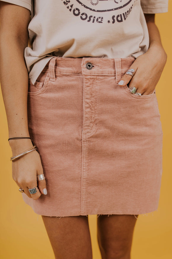 Corduroy Mini Skirt | ROOLEE