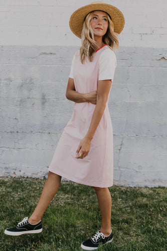 Pink Contrast Dress | ROOLEE