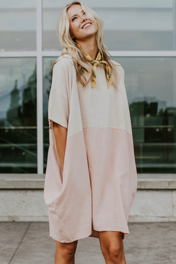 Line in the Sand Dress in Sweet Rose | ROOLEE