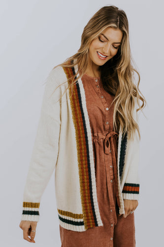 Multicolor Stripe Cardigan | ROOLEE