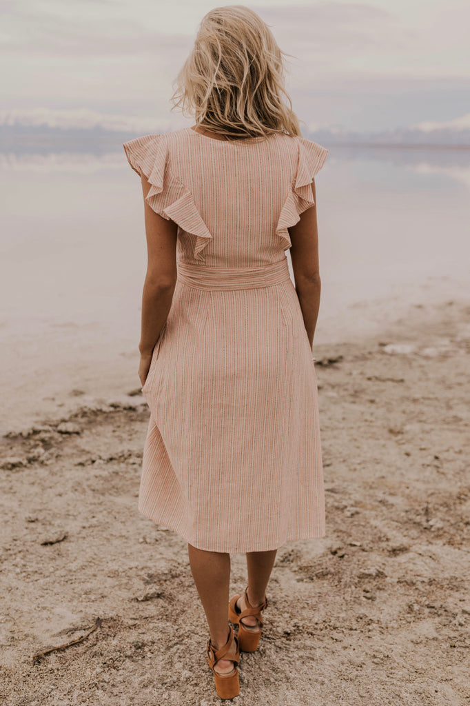 Peach Midi Dress | ROOLEE