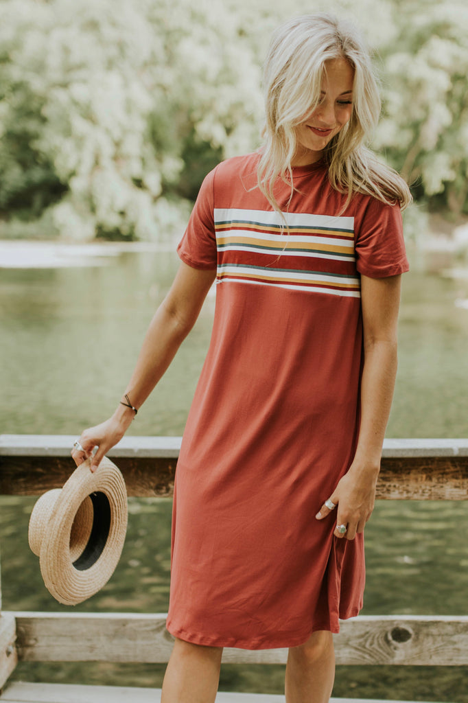 Melbourne Stripe MOM Dress | ROOLEE