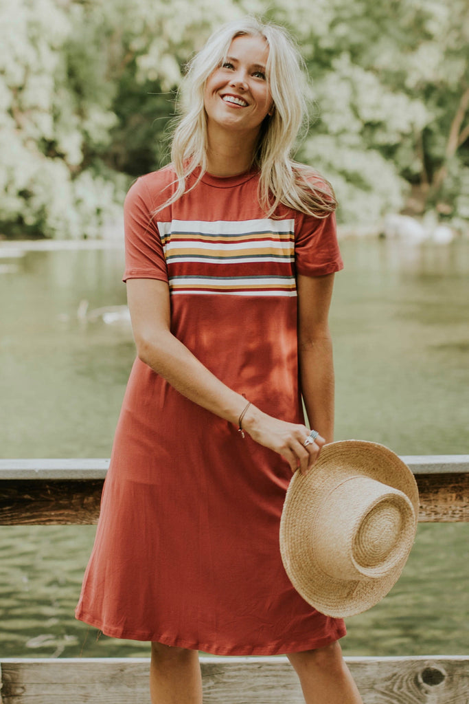 Stripe Dress w/Nursing Friendly Zipper | ROOLEE
