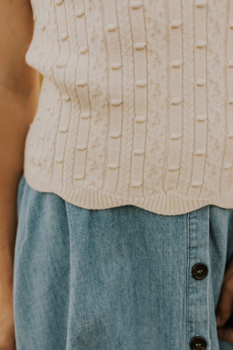 Textured Short Sleeve Sweater | ROOLEE