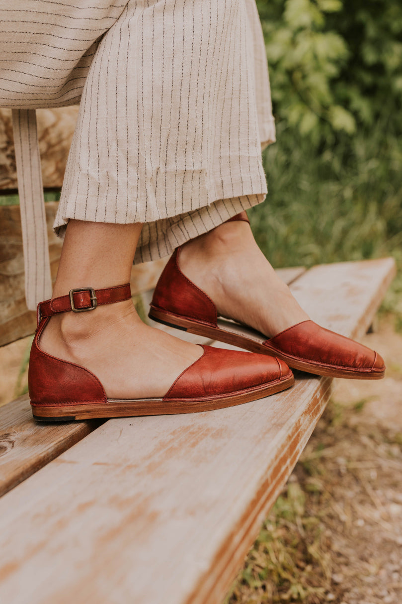 Ankle Strap Flats | ROOLEE