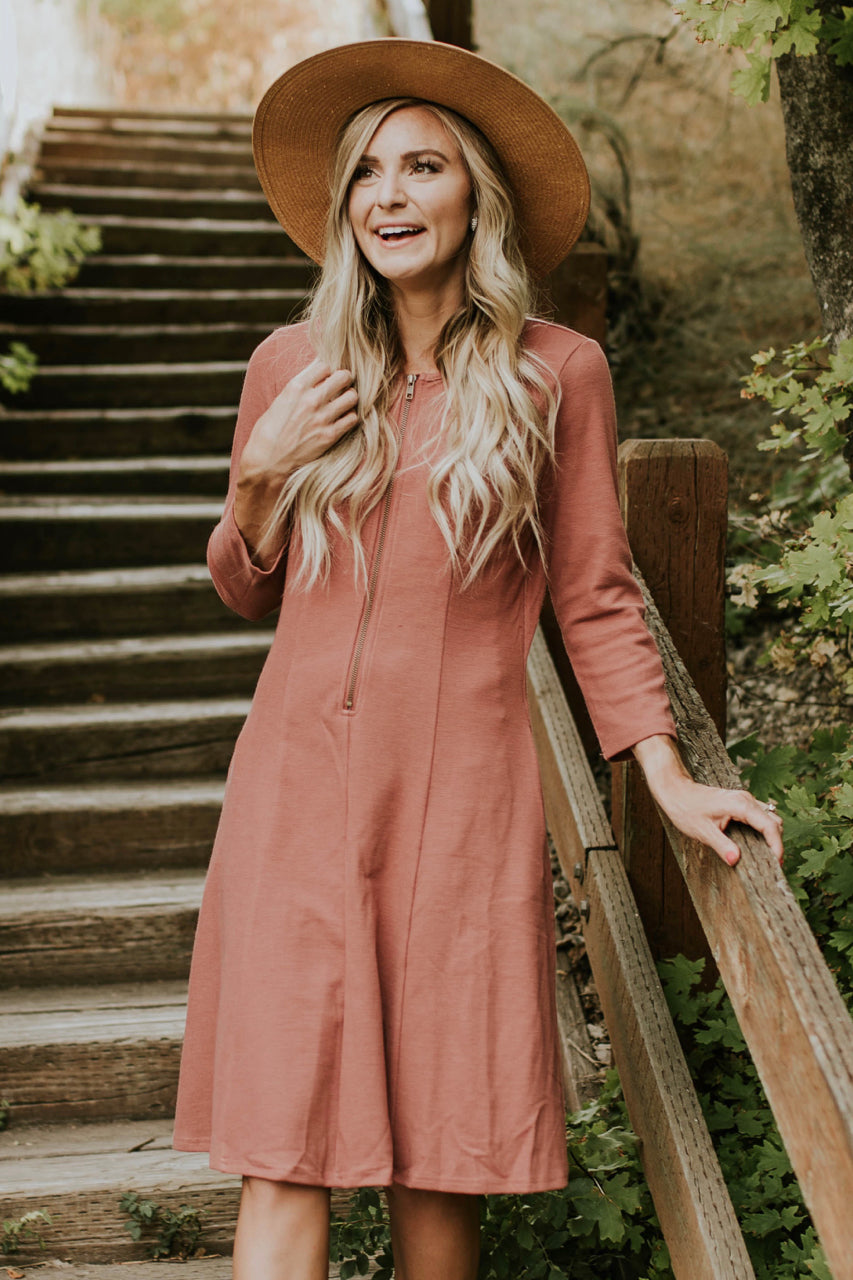 The Cypress Dress in Mauve | ROOLEE