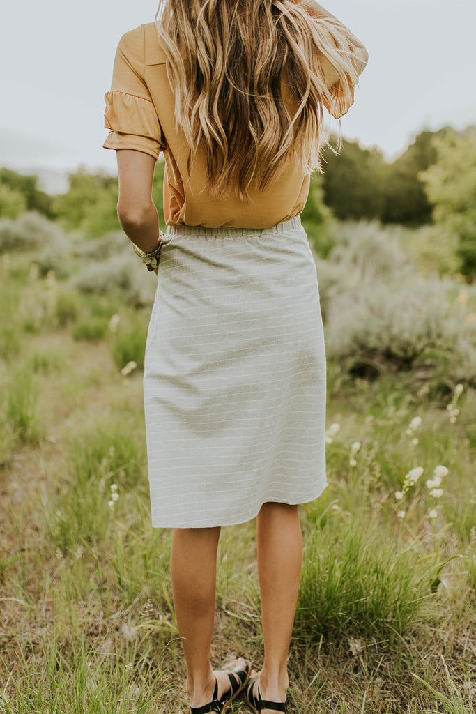 Grey Heather Summer Pocket Skirt | ROOLEE