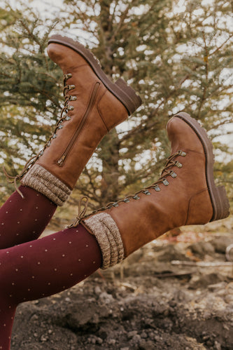 Tan Combat Winter Boots | ROOLEE