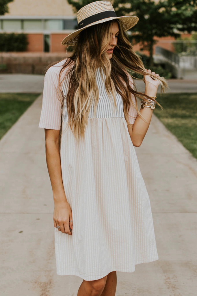 Mirabel Stripe Dress | ROOLEE