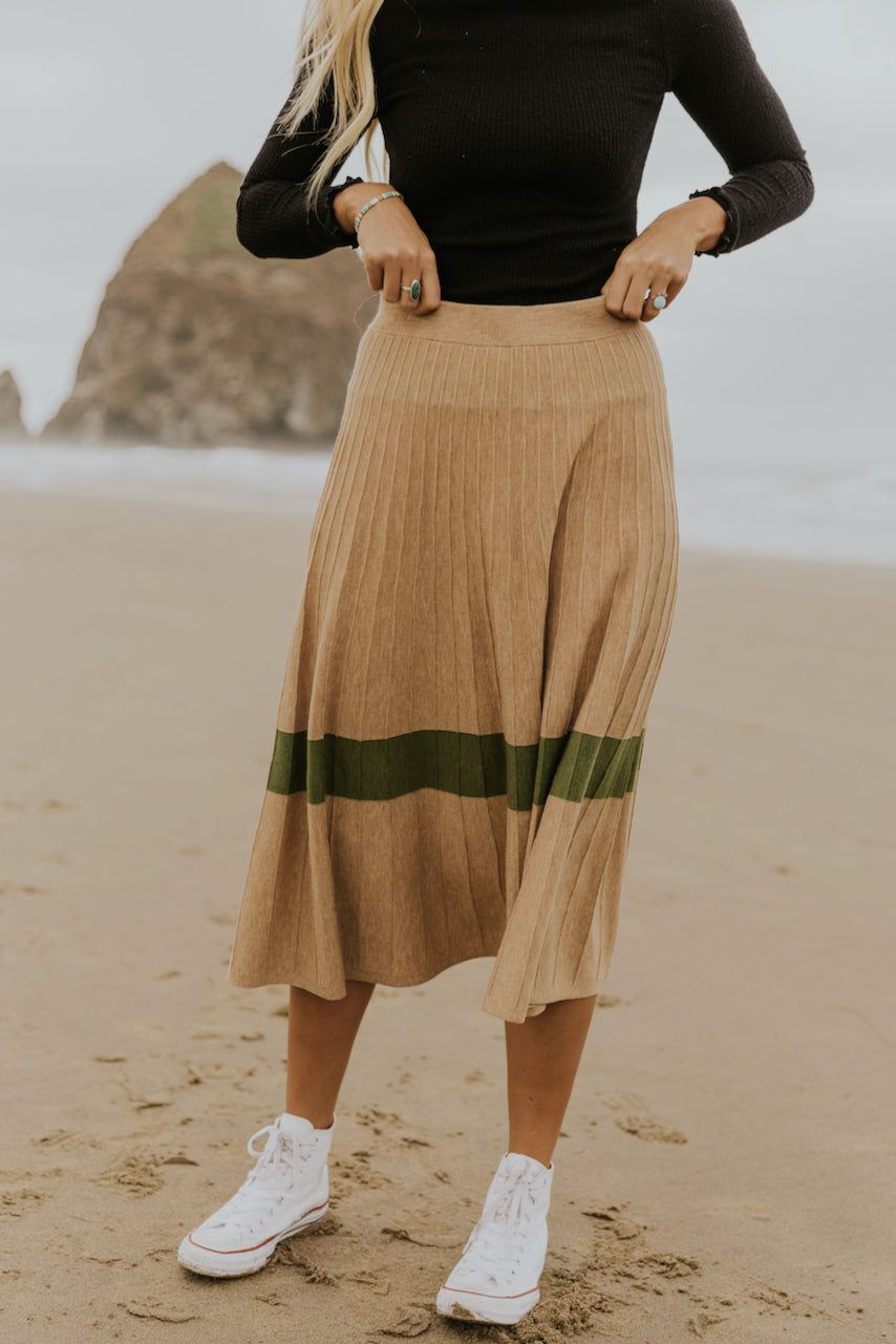Winter stripe bold statement skirt | ROOLEE