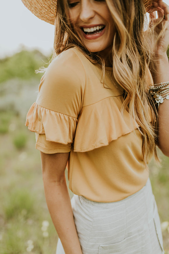 Ruffle Sleeves Women Top | ROOLEE