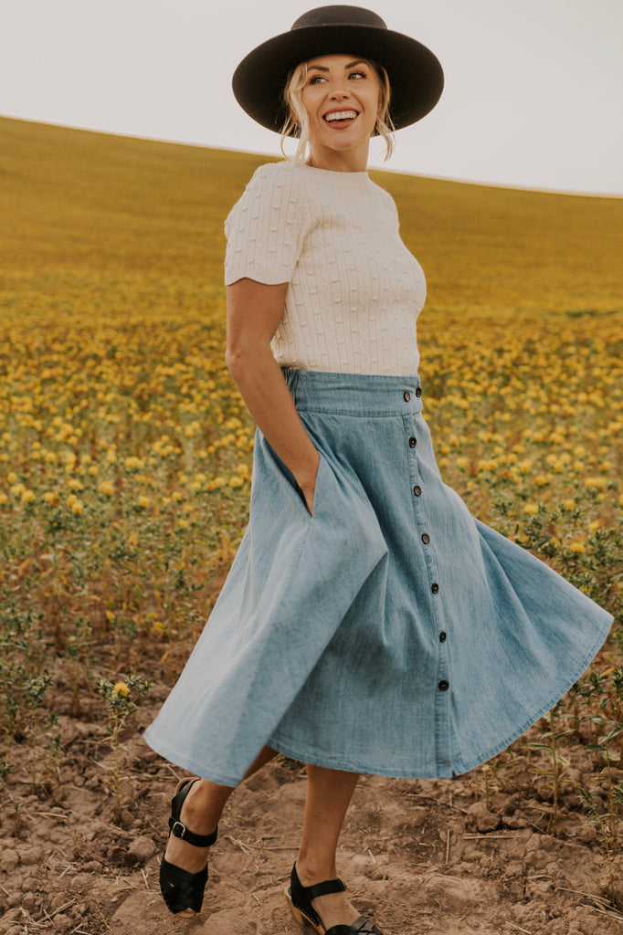 Vintage Denim Skirt | ROOLEE