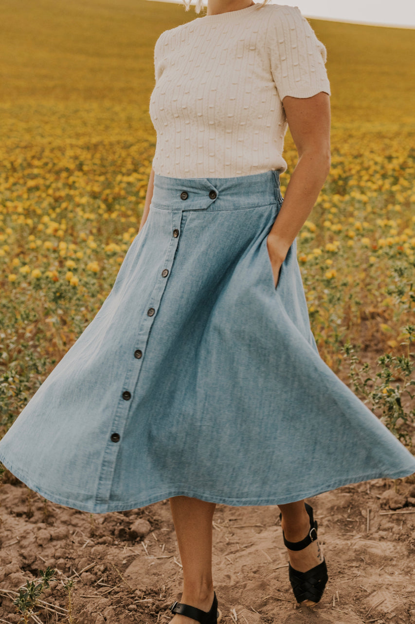 Denim Skirts | ROOLEE