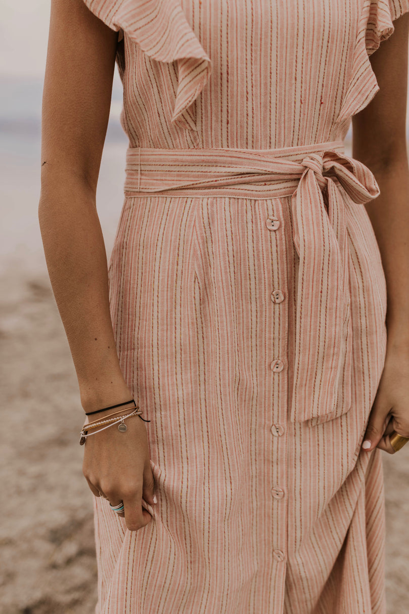 Tie Waist Button Dress | ROOLEE