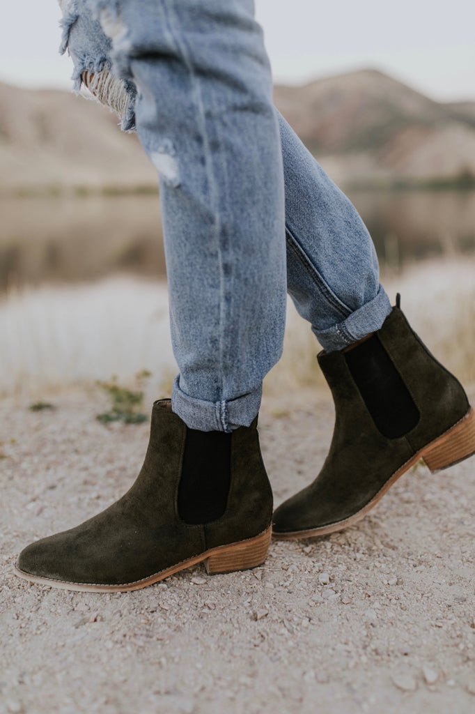 Olive Suede Boot | ROOLEE