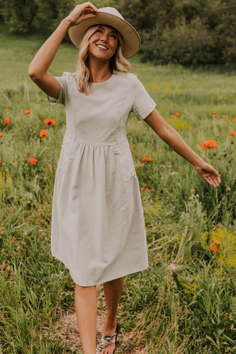 Sage Nursing Friendly Dress | ROOLEE