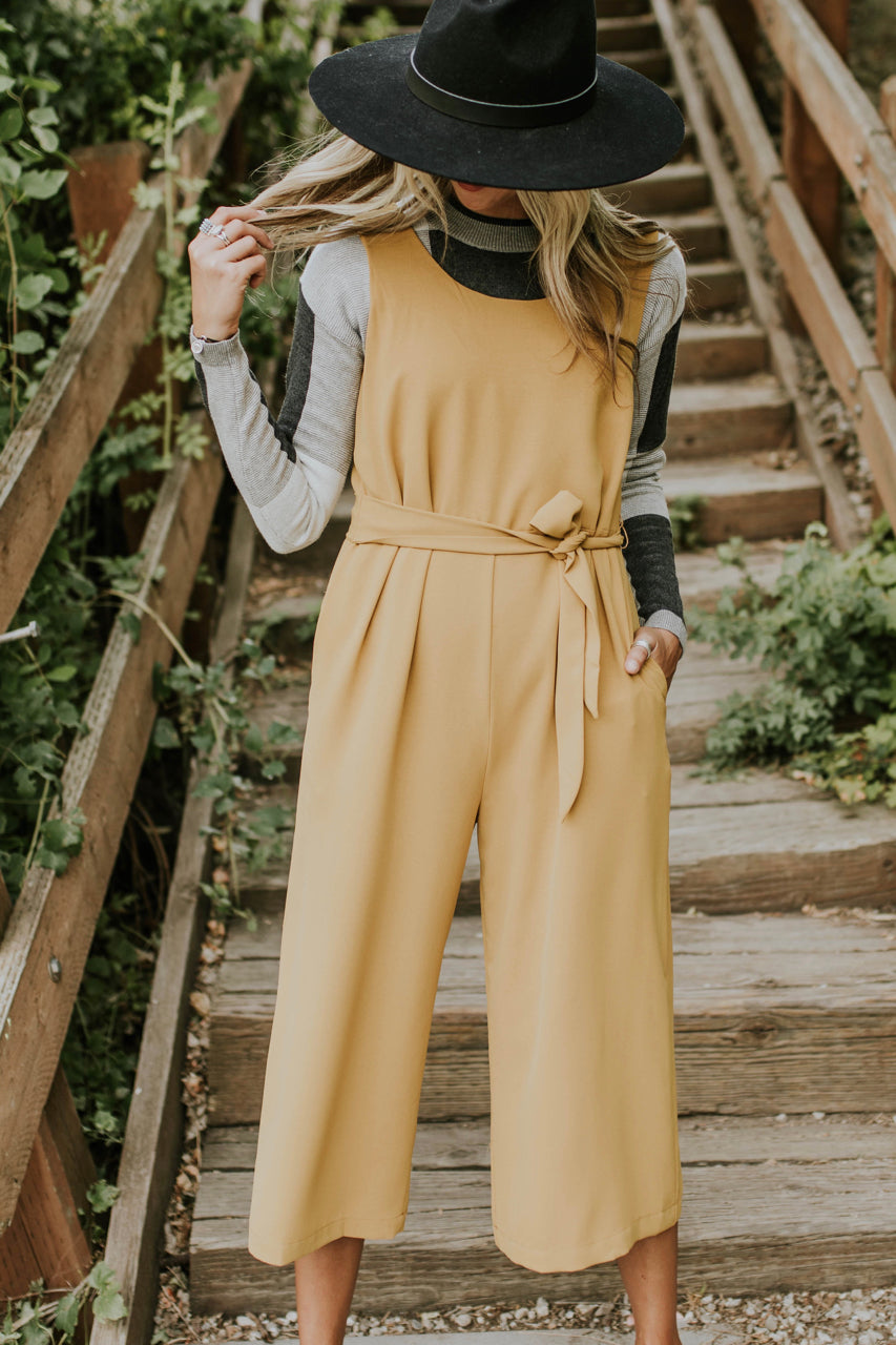 Cute And Comfy Tie Waist Jumpsuit For Women | ROOLEE