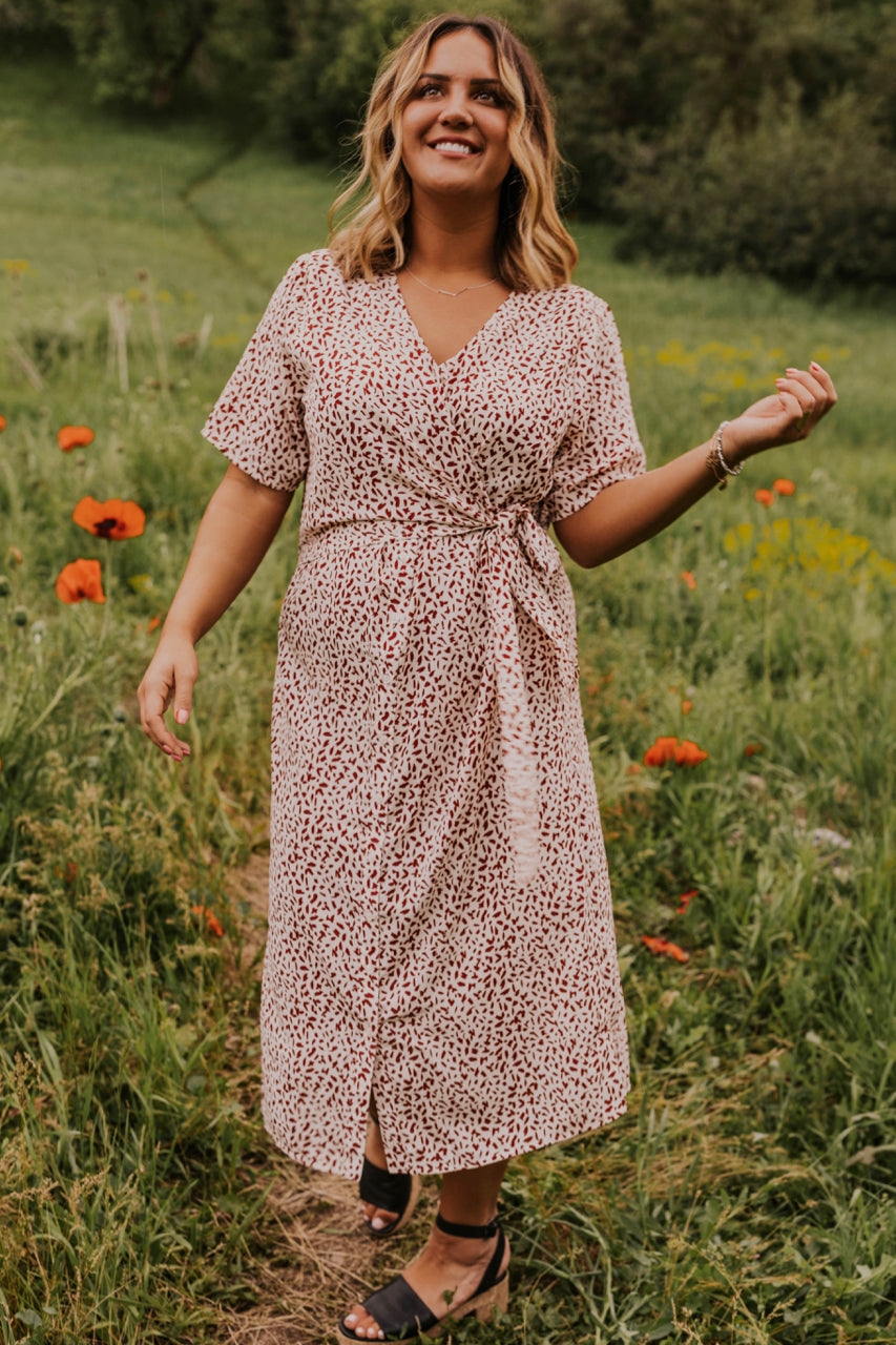 Patterned Midi Dress | ROOLEE