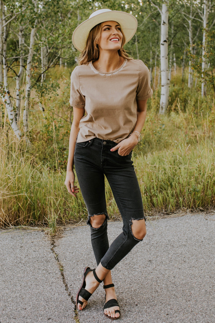 Corduroy Top Outfit | ROOLEE