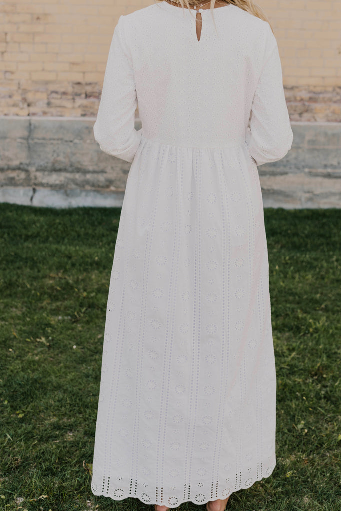 Pure White Temple Dress | ROOLEE