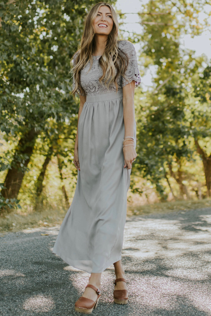 Maxi Dress With Lace Outfit | ROOLEE