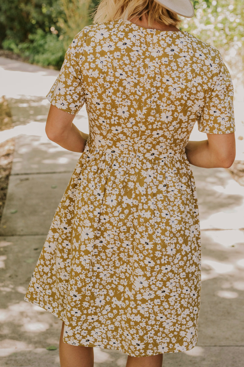 Simple Yellow Floral Dress | ROOLEE