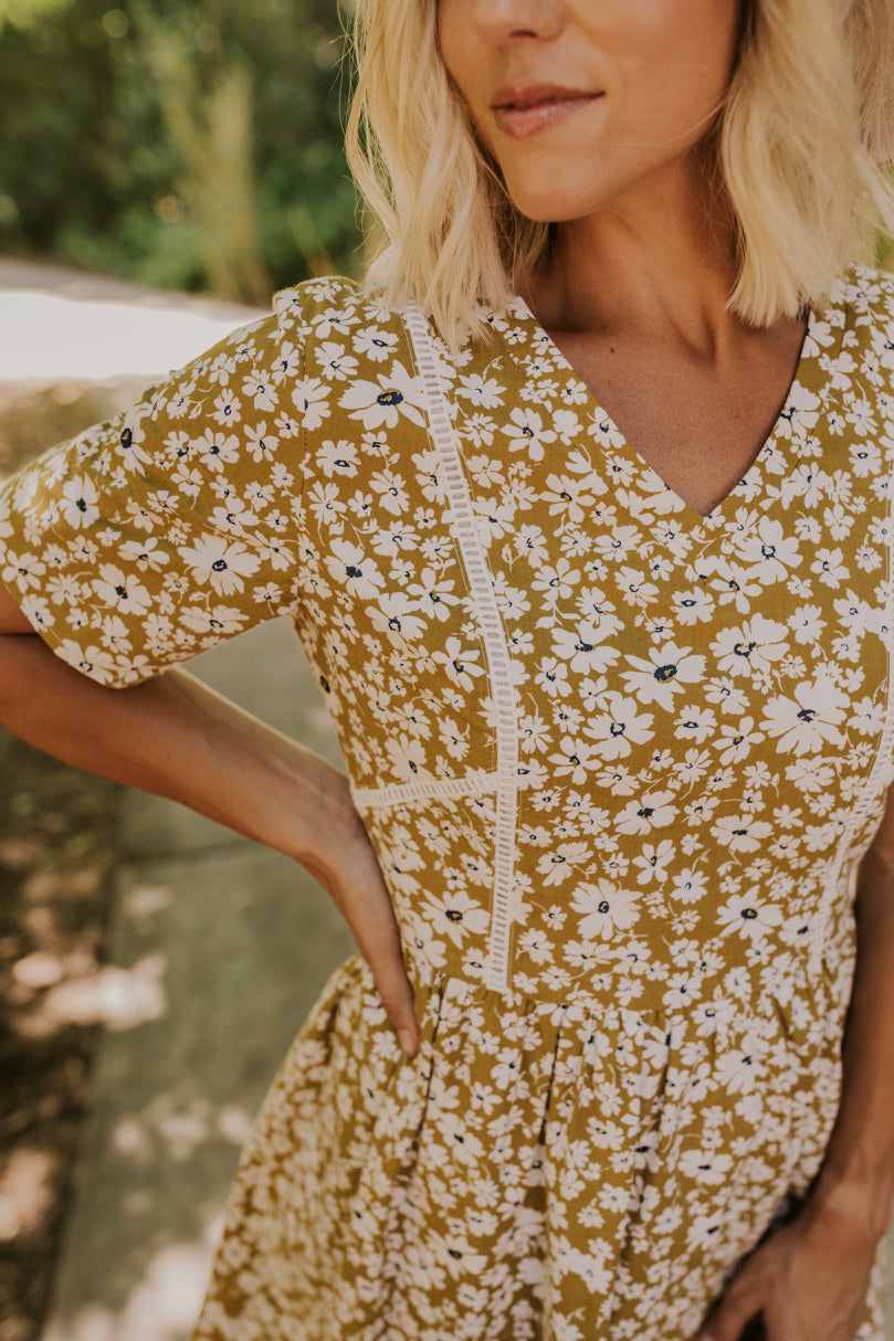 Yellow Floral Dress | ROOLEE