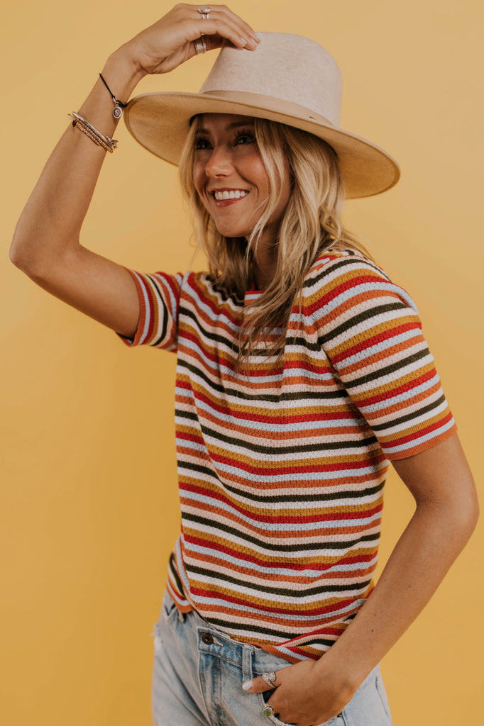 Casual Stripe Top Outfit Ideas | ROOLEE