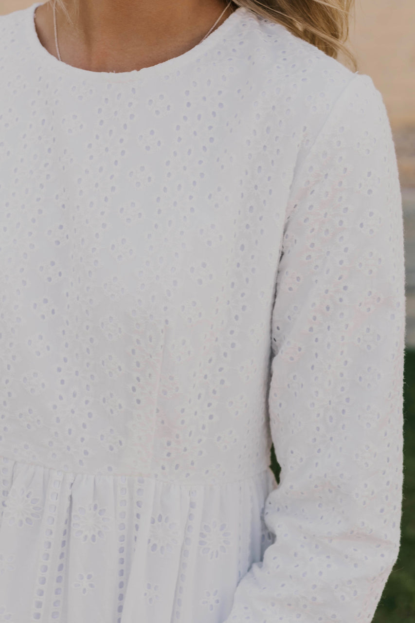 Eyelet Temple Dress | ROOLEE