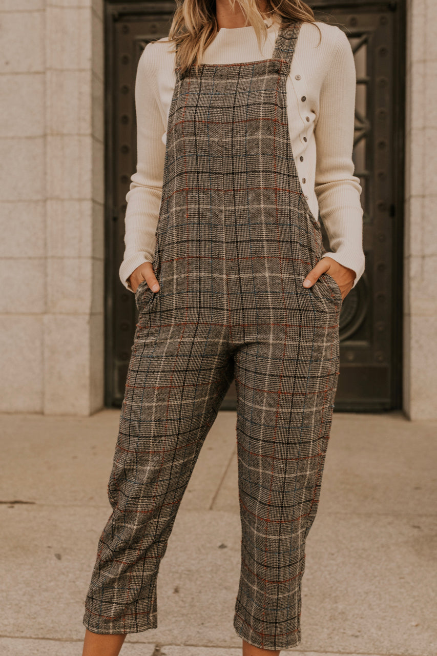Wool Plaid Jumpsuit | ROOLEE