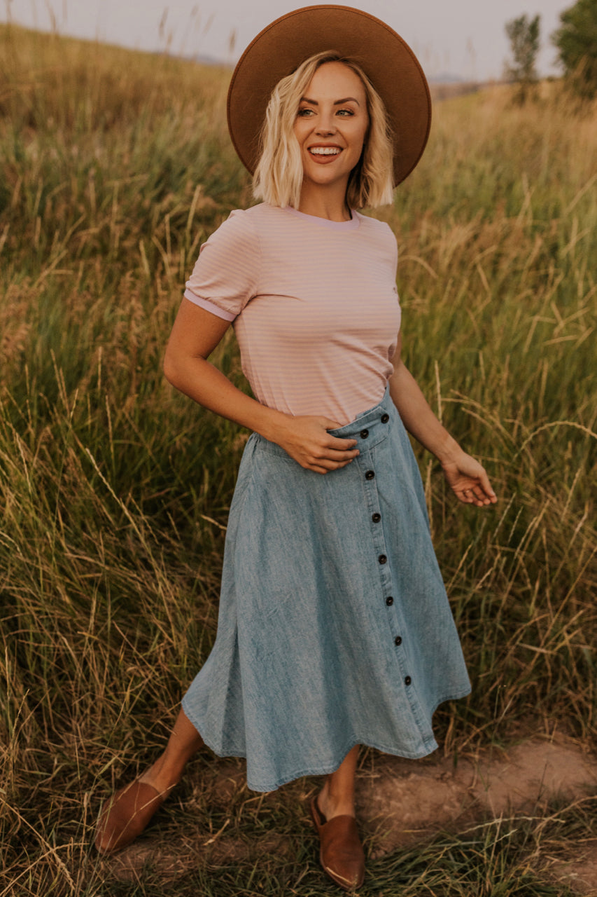 Retro Button Skirt | ROOLEE