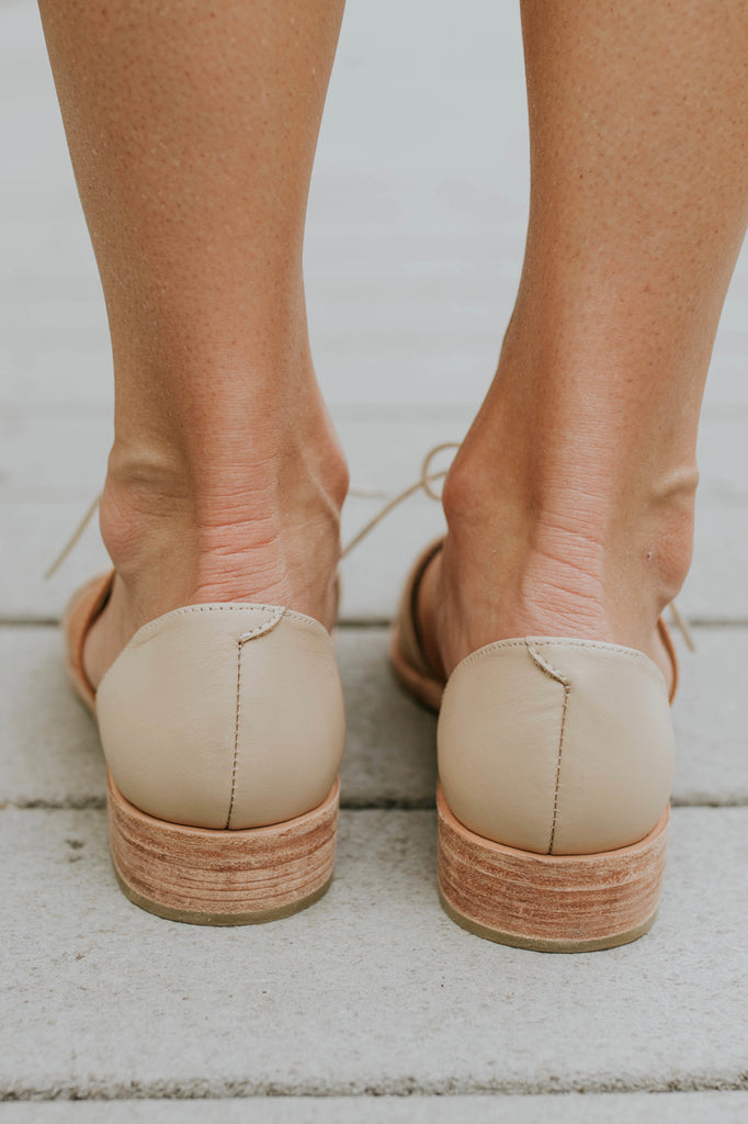 Leather Flats and Outfit | ROOLEE