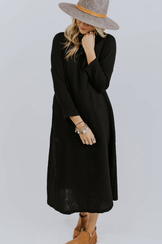 Peterson Textured Dress in Black | ROOLEE Dresses