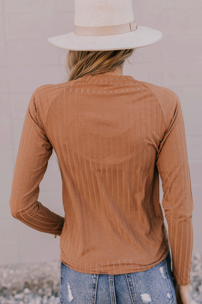 Basic Ribbed Long Sleeve Top | ROOLEE