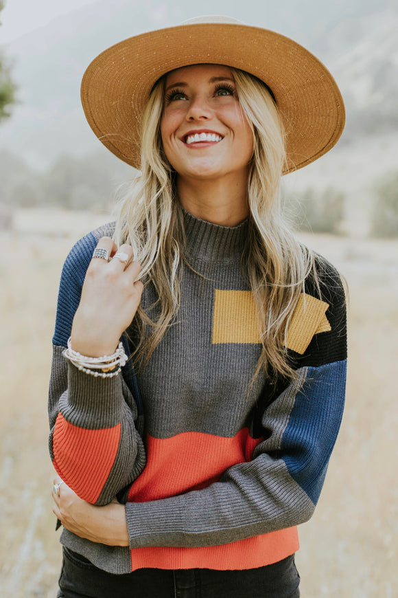 Abernathy Colorblock Sweater | ROOLEE