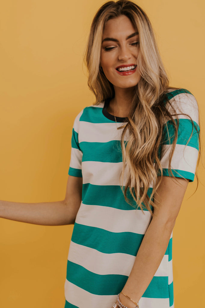 Green Stripe Dress | ROOLEE