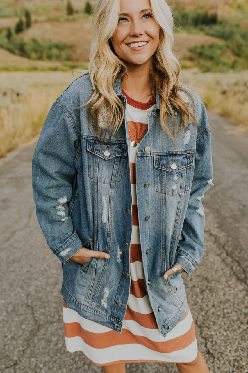 Denim Jacket Outfit Fall | ROOLEE