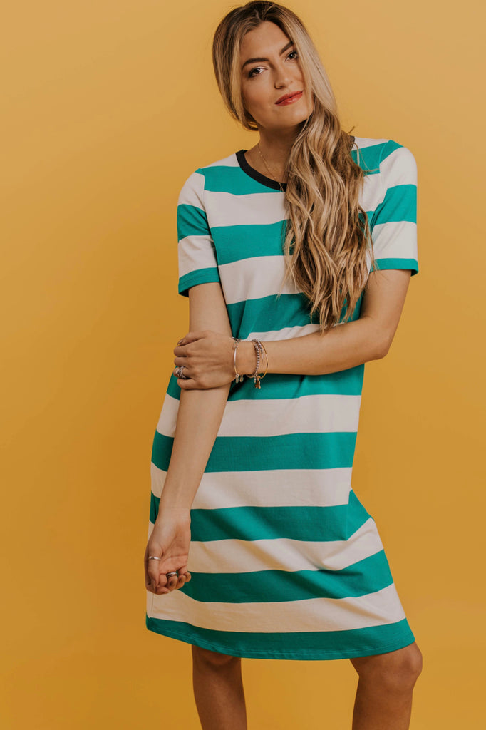 Stripe T-Shirt Dress | ROOLEE