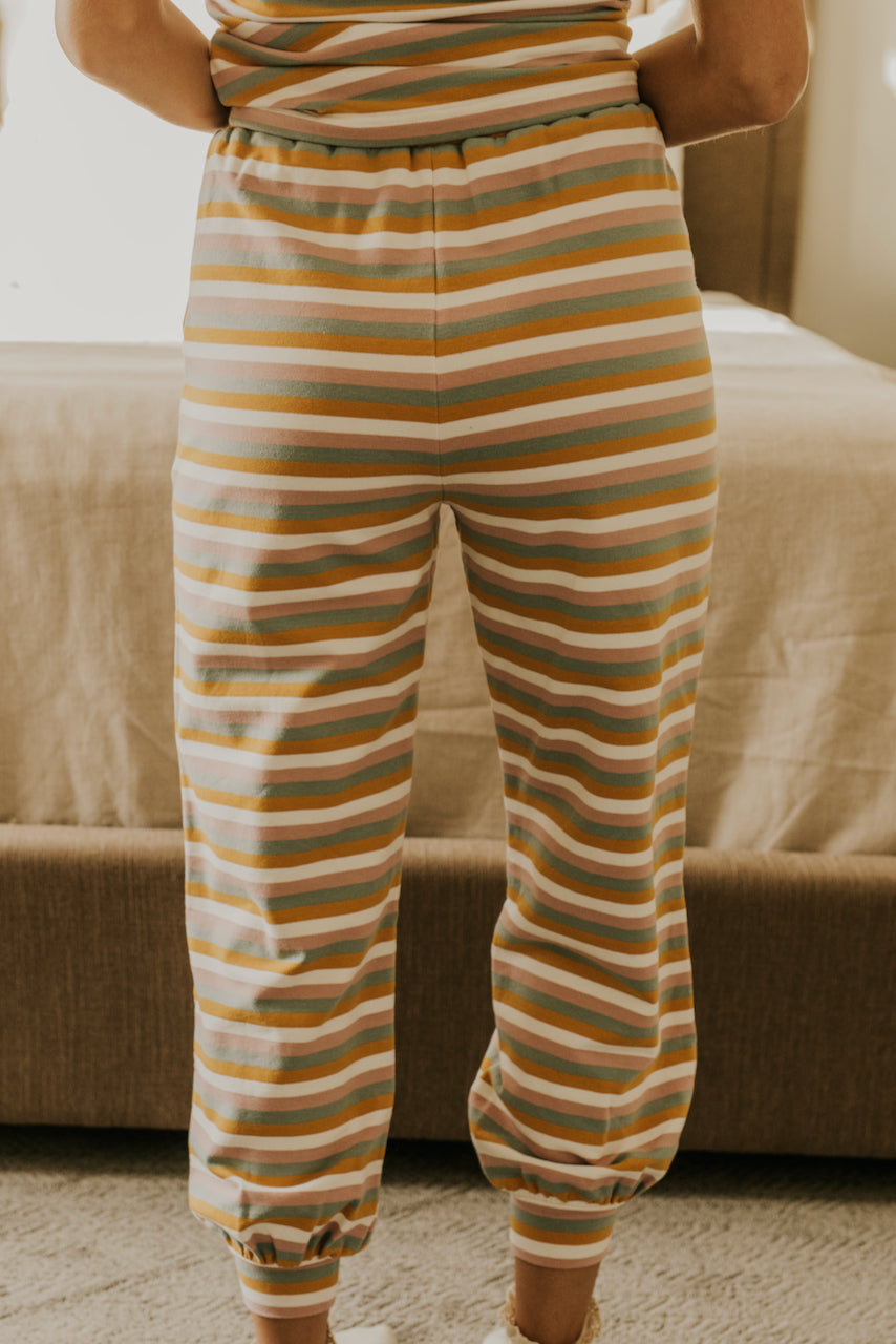 Striped PJ Bottoms for Christmas | ROOLEE