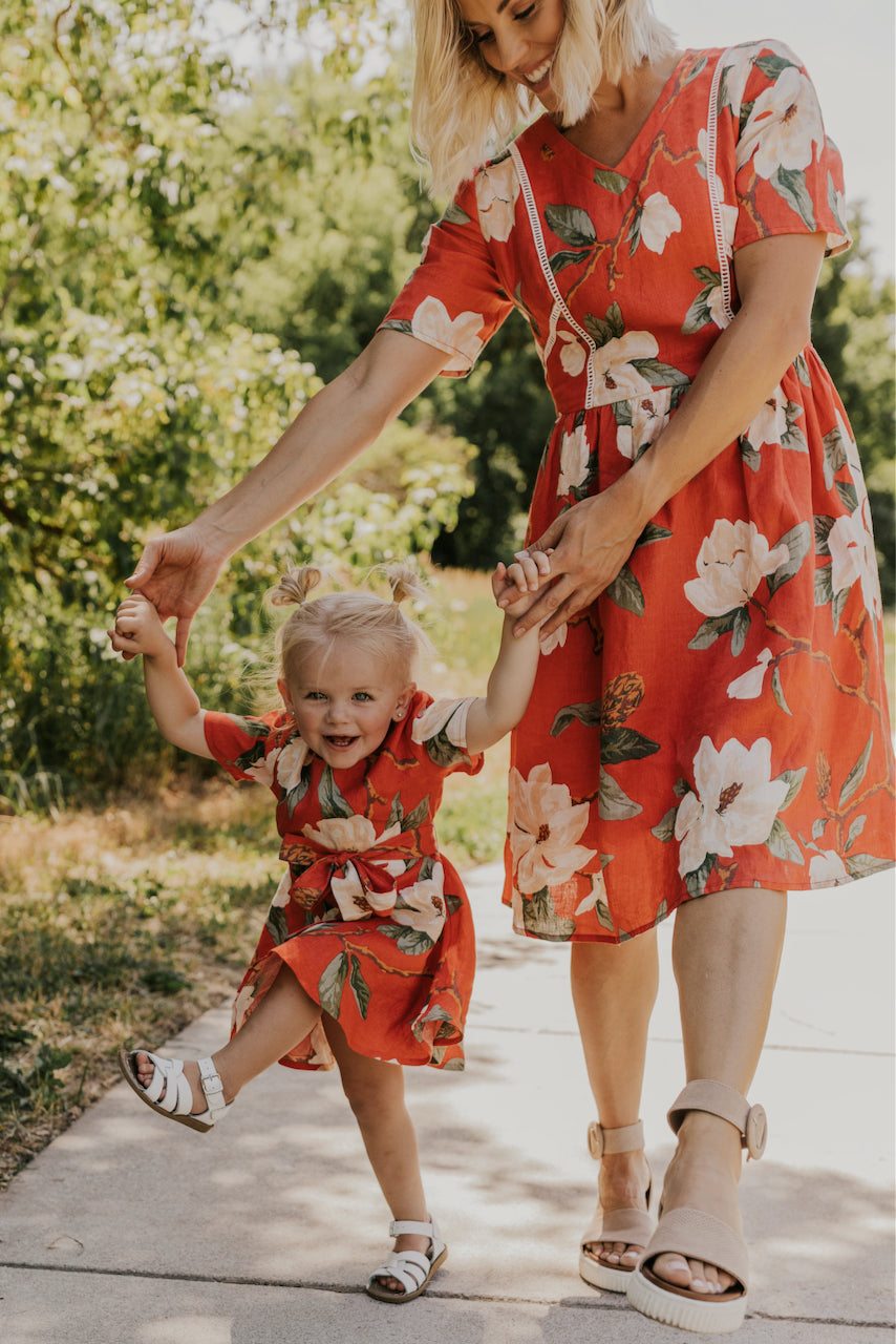 Floral Spring Dresses for Kids | ROOLEE