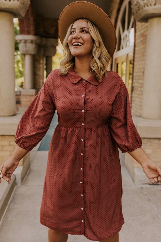 Quarter Sleeve Midi Dress | ROOLEE