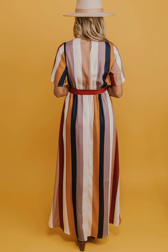 Long Multi Stripe Dress | ROOLEE