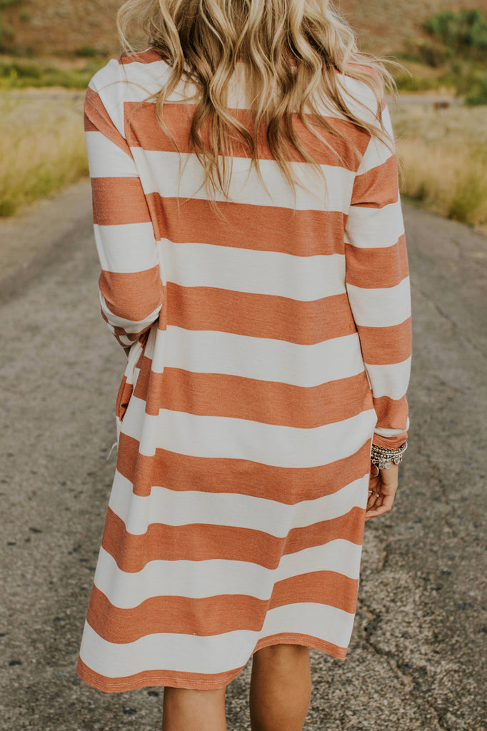 Striped Dress for Fall | ROOLEE