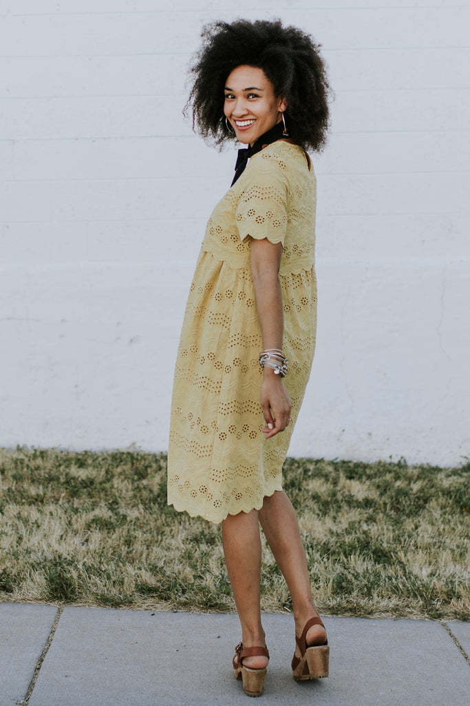 Short Sleeve Basic Dress | ROOLEE