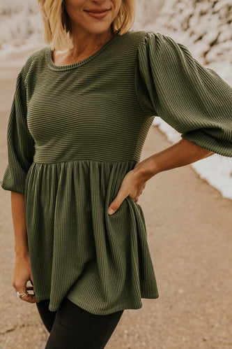 Bishop Sleeve Babydoll Blouse | ROOLEE