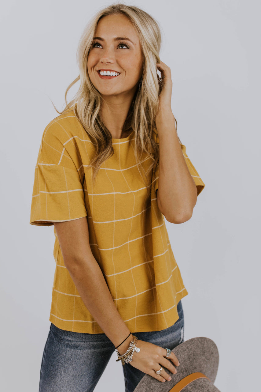 Bright Grid Top | ROOLEE