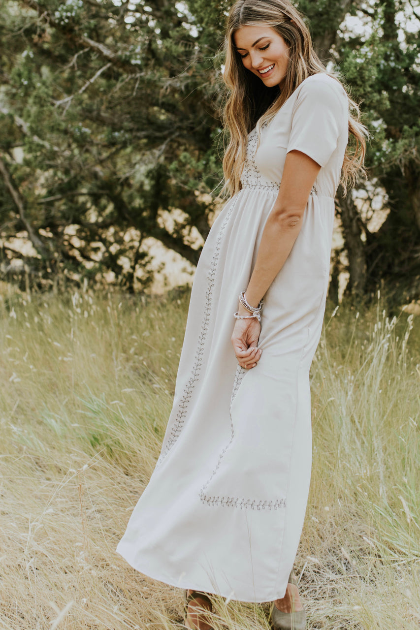 Short Sleeve Embroidered Dress | ROOLEE Dresses